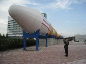 replika roket di JAXA